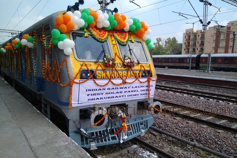 indian solar train photovoltaic railstock