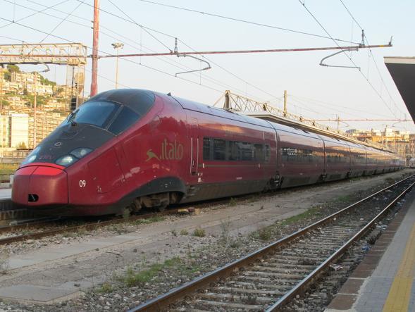 AGV 575 Italian high speed record train