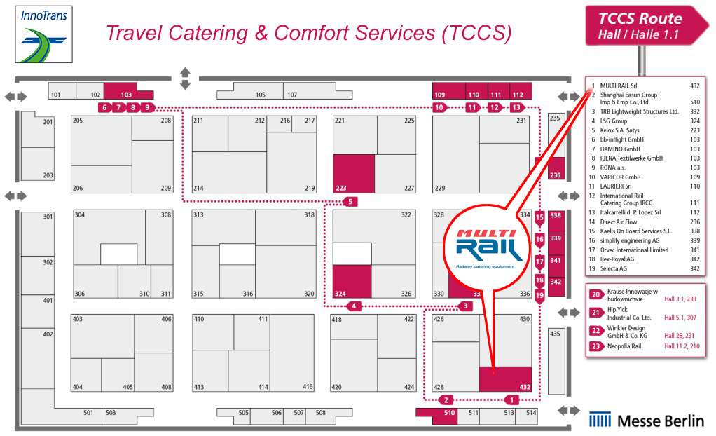 Multi Rail stand in the TCSS section at InnoTrans 2020 trade fair