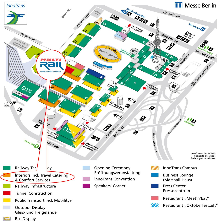 Multi Rail hall 1.1 stand 432 at InnoTrans 2020 trade fair